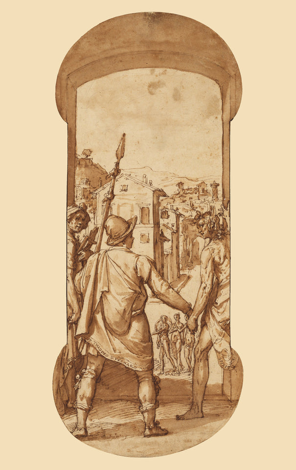 "Federico Zuccaro:Taddeo Returns to Rome Escorted by Drawing ,16x12""(A3)Poster"