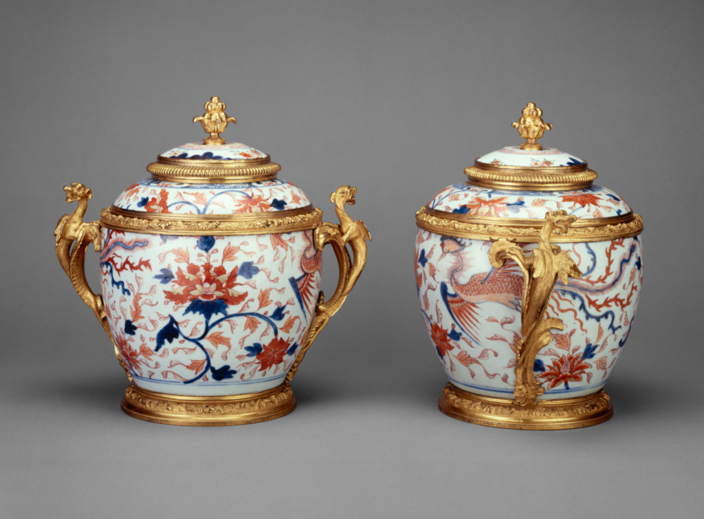 "Unknown:Pair of Lidded Jars,16x12""(A3)Poster"