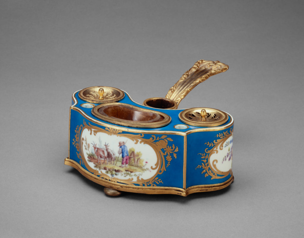 Sèvres Manufactory:Inkstand with Candleholder,16x12