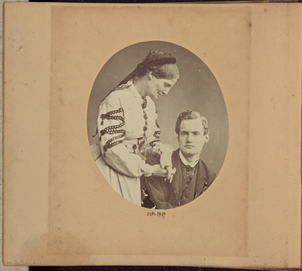 Dr. John Adamson:[Aleck Bell with an Unidentified Woman],16x12