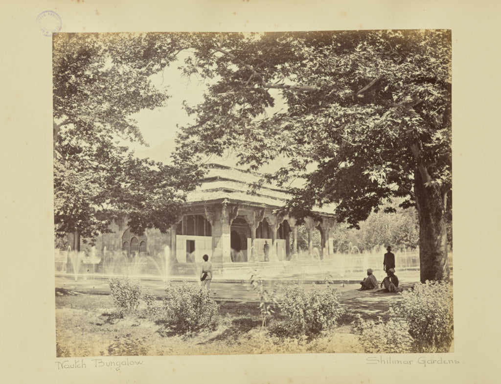 Baker & Burke:Shalimar. The Nautch Bungalow from Garden,16x12