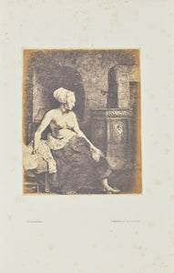 "Bisson Frères:[Woman sitting half dressed beside a stove],16x12""(A3)Poster"