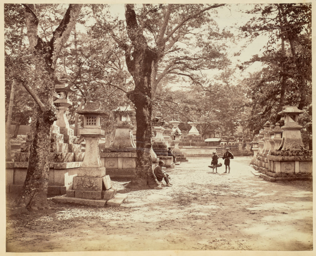Felice BeatoAttributed to:[Japanese Cemetery],16x12