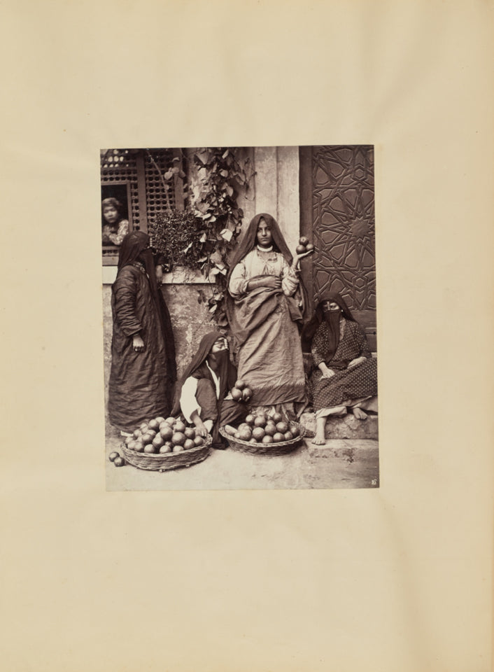 "Carlo Naya:[Selling Fruit in Cairo],16x12""(A3)Poster"