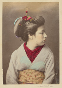 "Felice Beato:[Japanese Woman in Profile],16x12""(A3)Poster"