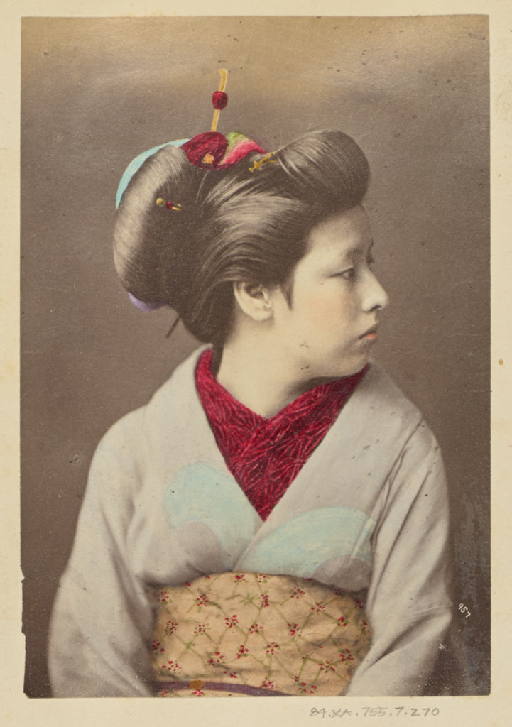 Felice Beato:[Japanese Woman in Profile],16x12