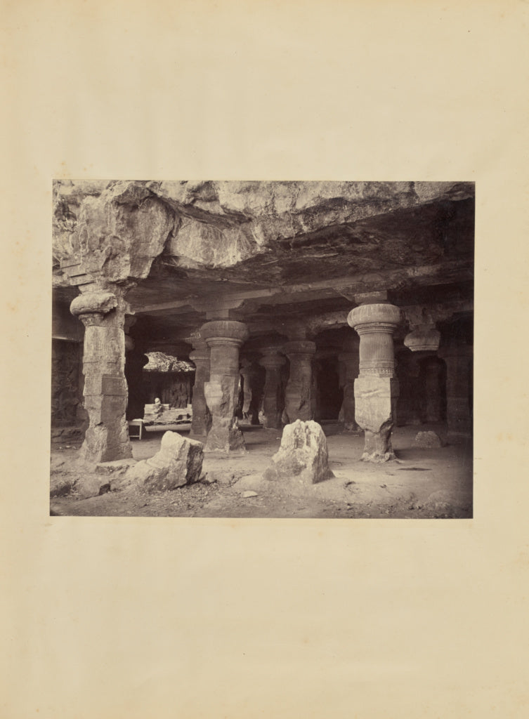 Lala Deen Dayal:[The Great Temple Inside the Elephanta Caves,16x12
