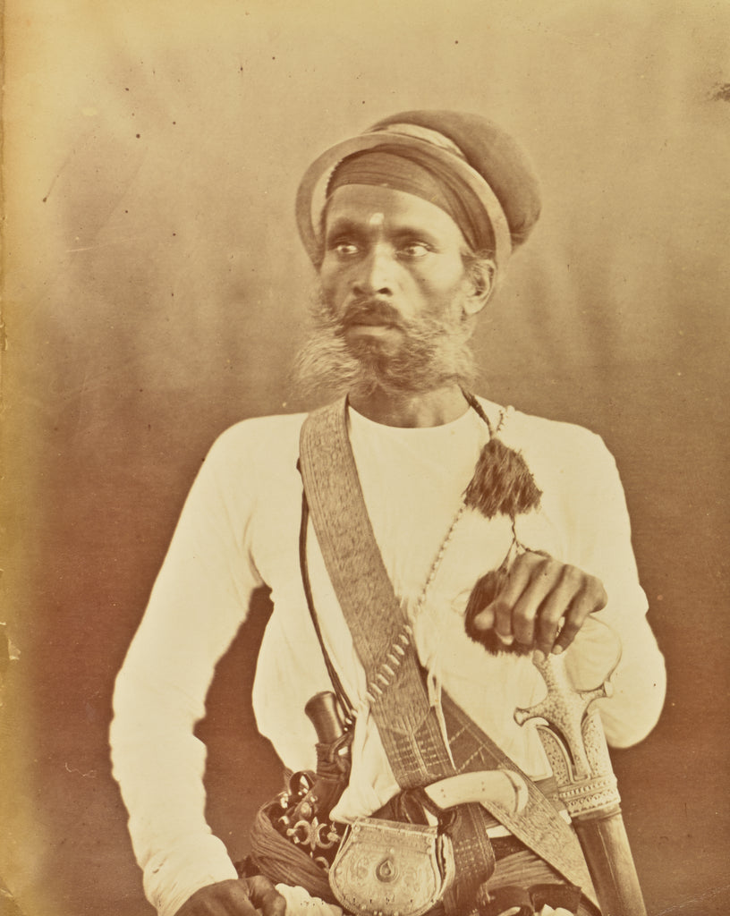 Willoughby Wallace Hooper:[Portrait of a Sikh Warrior],16x12