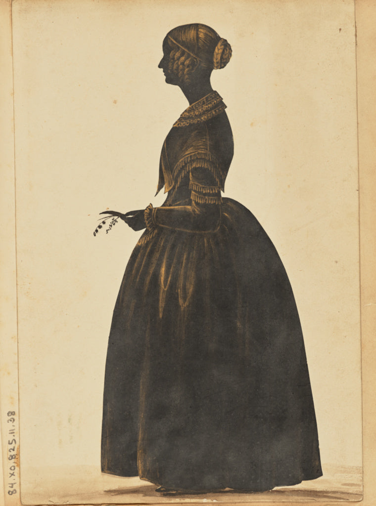 Unknown:[Silhouette of a woman],16x12
