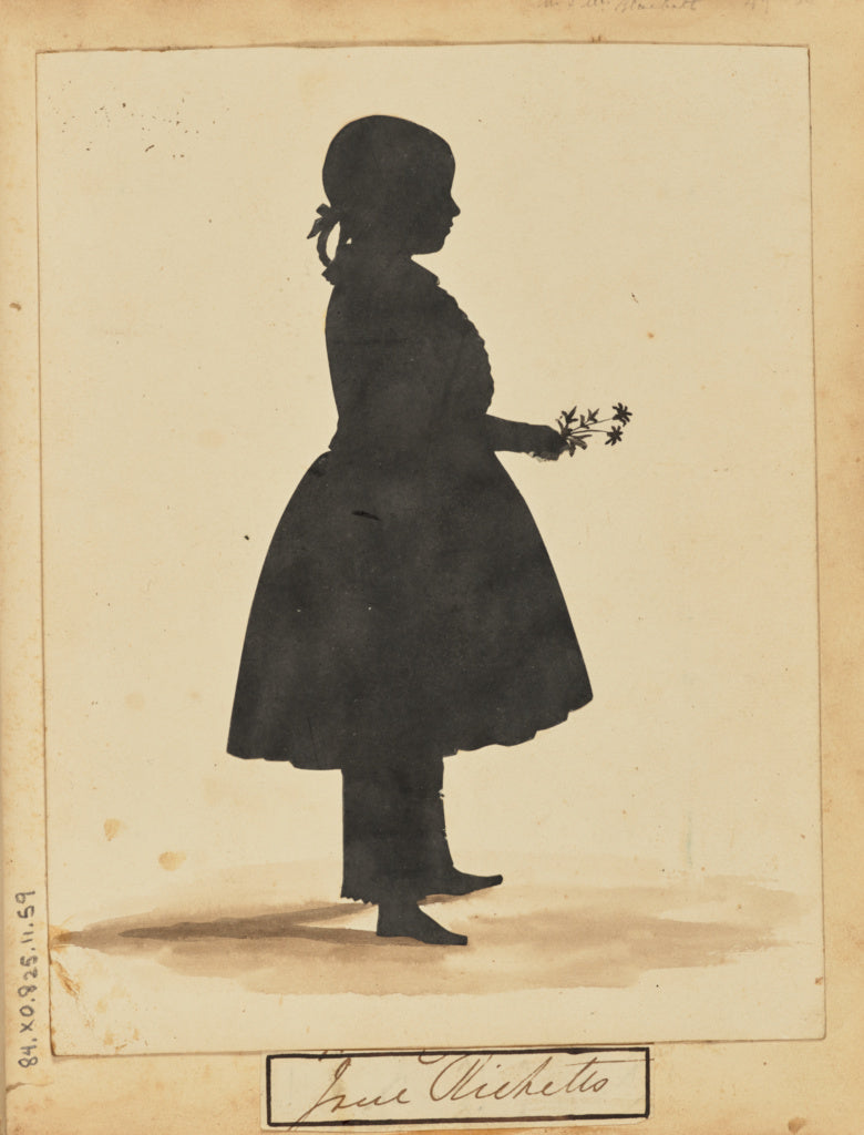 Unknown:[Silhouette of a girl],16x12