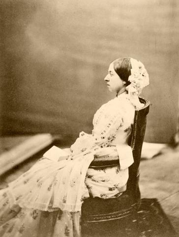 Queen Victoria 1854 by Roger Fenton, Historic Photograph, A4 Art Poster Reproduction