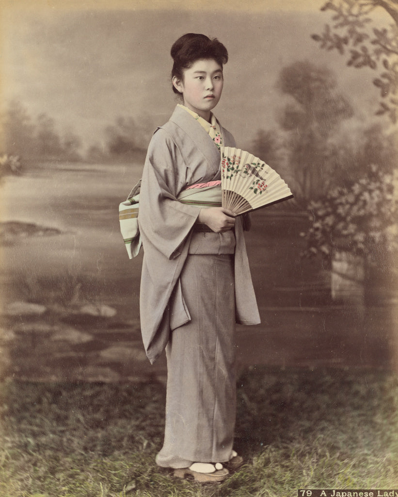 Kusakabe KimbeiAttributed to:A Japanese Lady,16x12