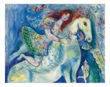 "Danseuse au Cirque (Circus Dancer on Horseback) by Marc Chagall, 16x12"" (A3) Poster Print"
