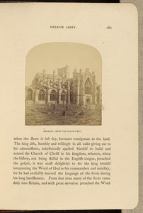 "George Washington Wilson:Melrose Abbey; from South West,16x12""(A3)Poster"
