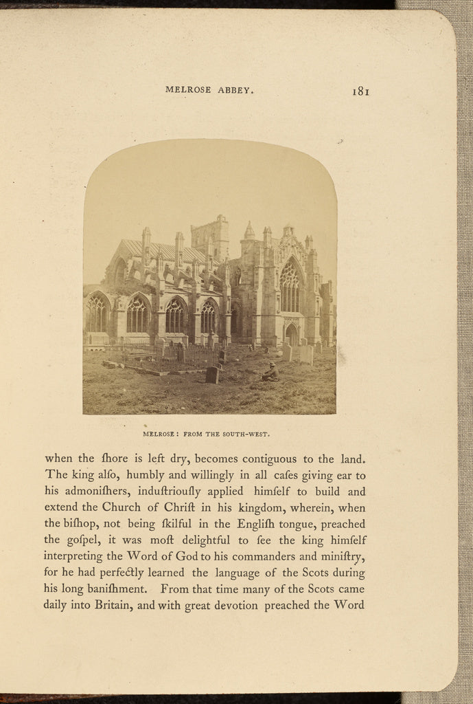 George Washington Wilson:Melrose Abbey; from South West,16x12