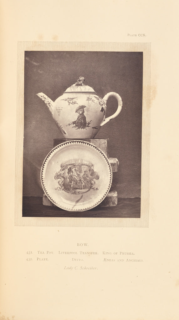 William Chaffers:[Tea pot and plate],16x12