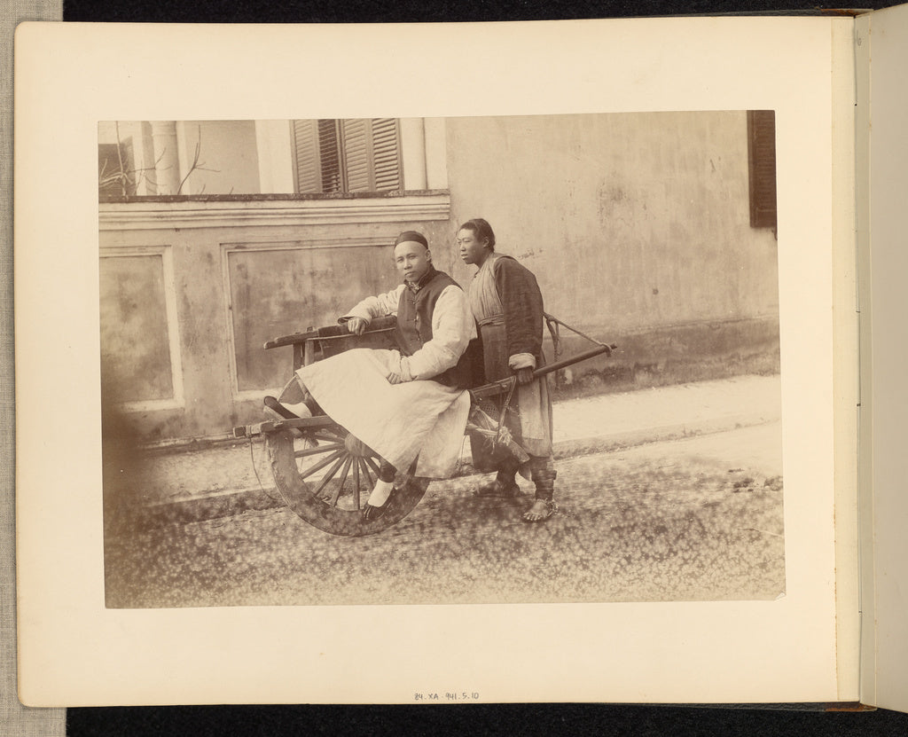 Unknown maker:[Wheelbarrow Driver and Passenger],16x12