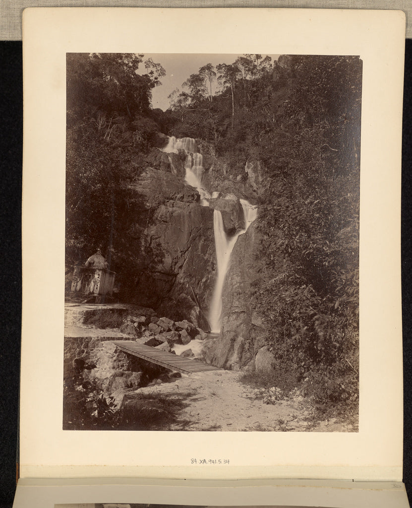 Unknown maker:[Waterfall with Small Temple],16x12