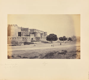 "Samuel Bourne:Agra; The Fort, Ummer Singh Gate, with the Taj,16x12""(A3)Poster"