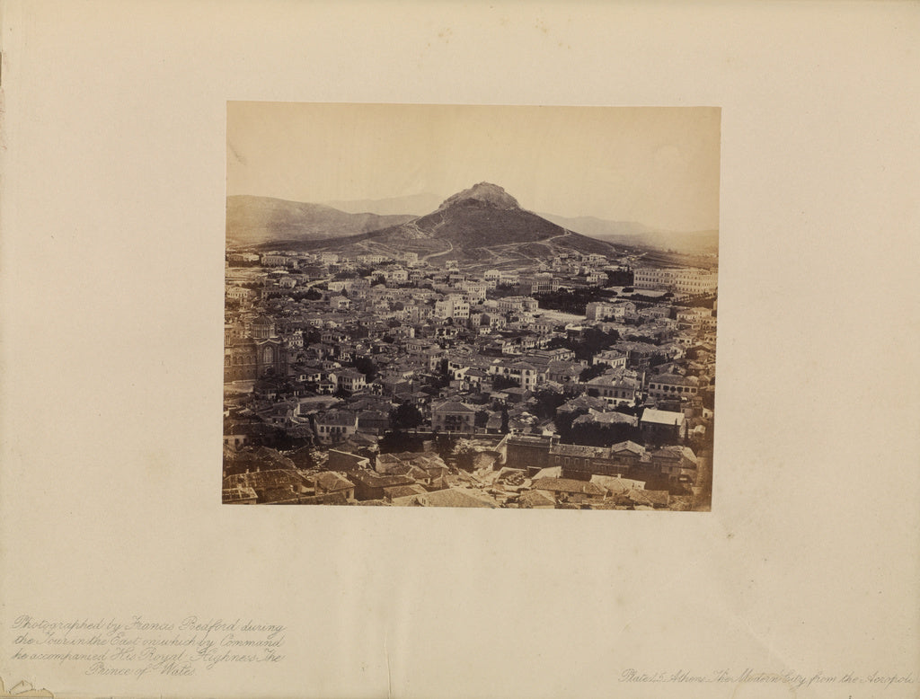 Francis Bedford:Athens - The Modern City from the Acropolis,16x12