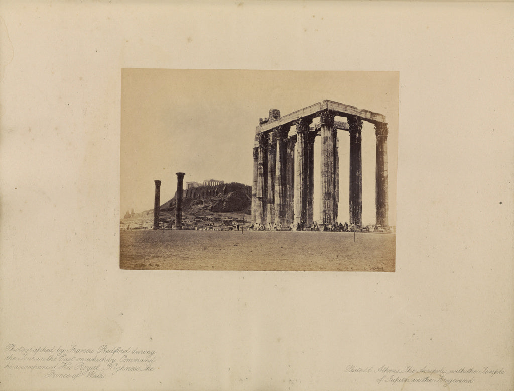 Francis Bedford:Athens - The Acropolis, with the Temple of J,16x12