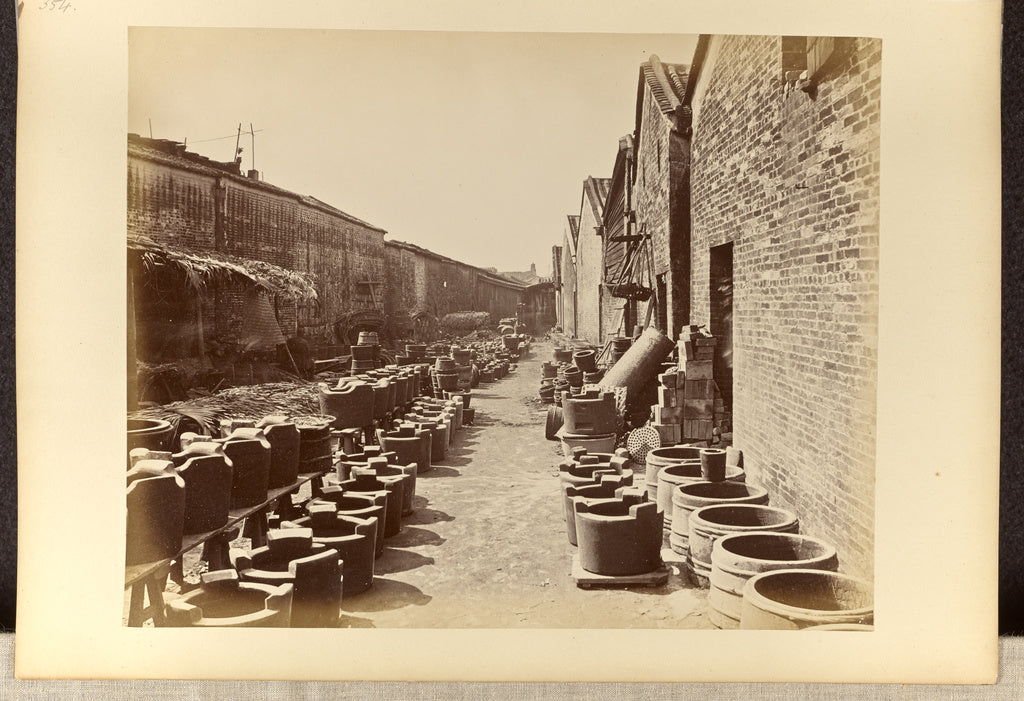 Lai, Afong:[View of an alley bordered by brick buildings and,16x12