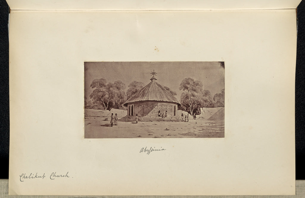 Unknown:Abyssinia. Chelikut Church,16x12