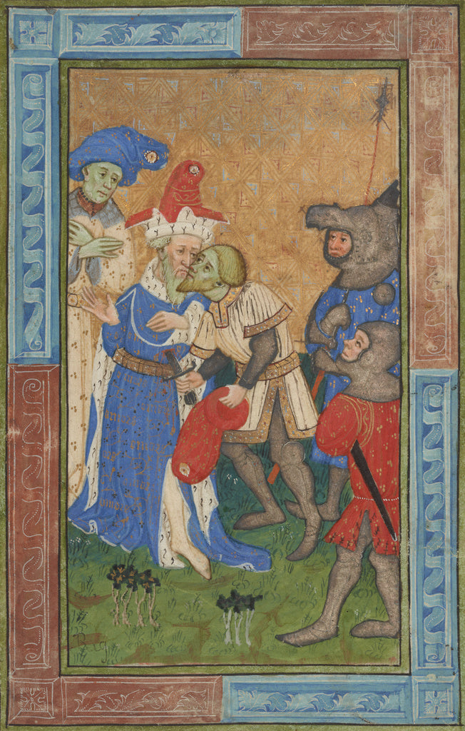 Master of Trinity College Ms. B.11.7:Assassination scene,16x12