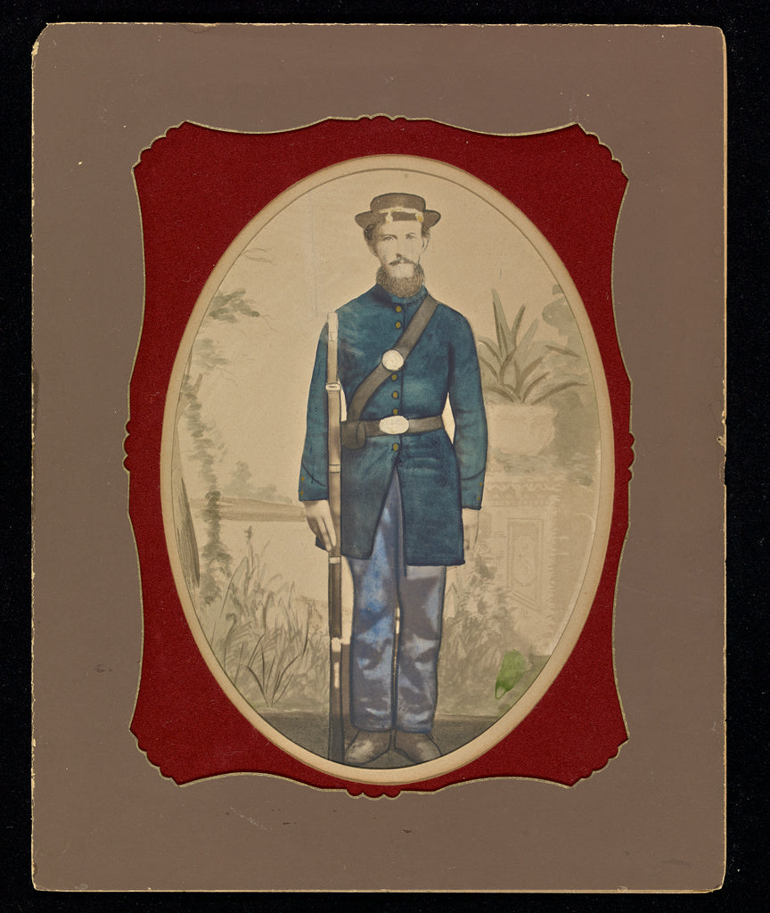 Unknown maker, American:[Portrait of a Union soldier],16x12