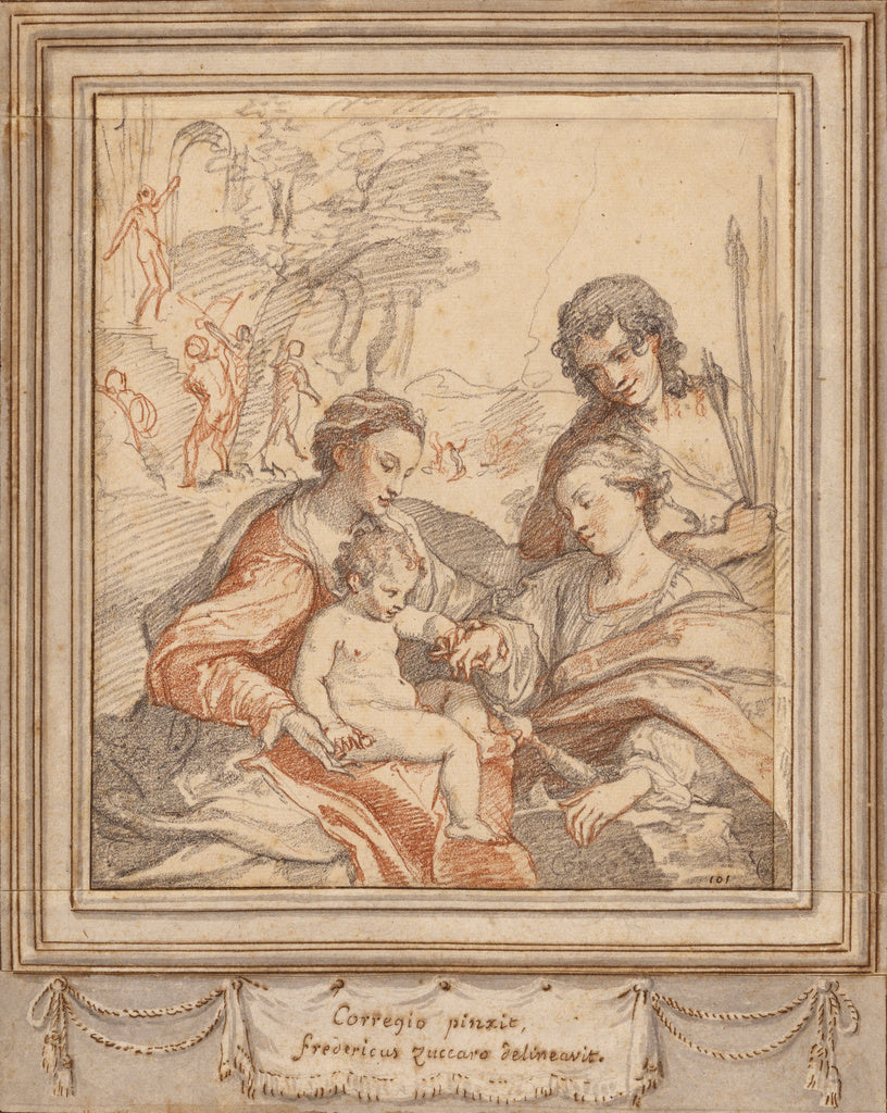Federico Zuccaro:The Mystic Marriage of Saint Catherine (aft,16x12