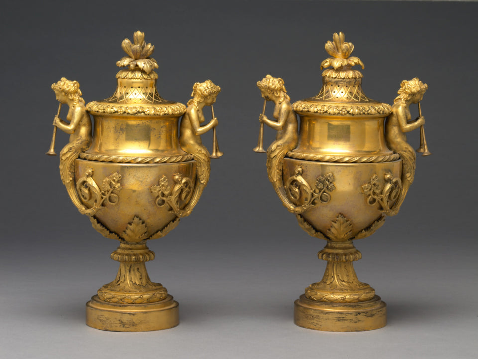 "Unknown:Pair of Lidded Vases,16x12""(A3)Poster"
