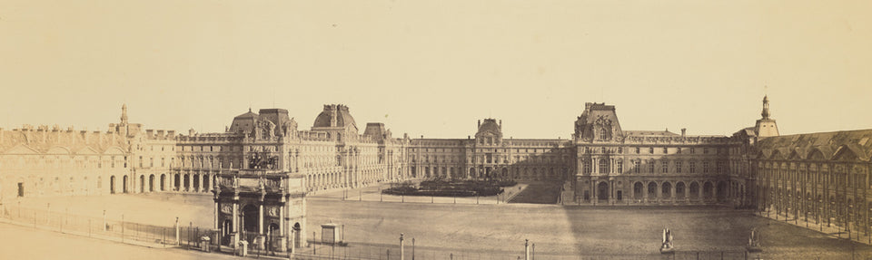 "edouard Baldus:[Panoramic View of the Nouveau Louvre, Cour N,16x12""(A3)Poster"