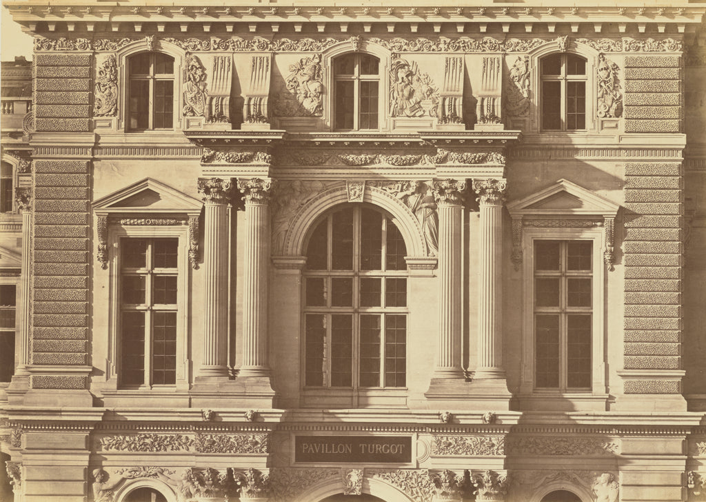 edouard Baldus:[The First and Second Floors of the Pavillon ,16x12