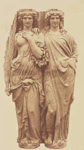 "edouard Baldus:[Caryatids by Auguste Ottin, Decoration of th,16x12""(A3)Poster"