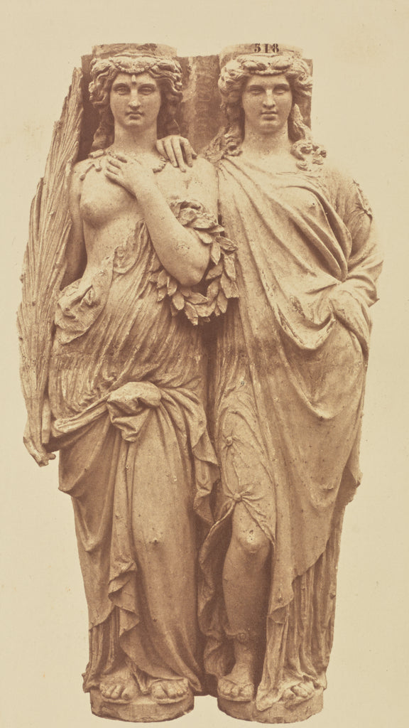edouard Baldus:[Caryatids by Auguste Ottin, Decoration of th,16x12