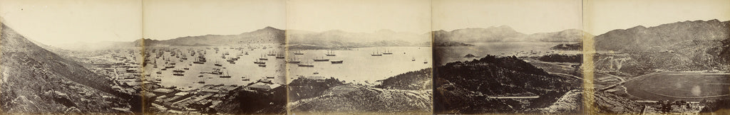 Felice Beato:Panorama of Hong Kong, taken from Happy Valley,16x12