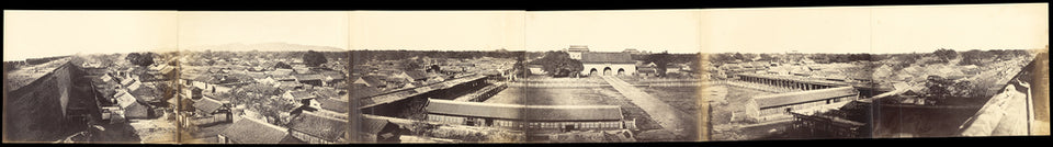 "Felice Beato:Panorama of Peking, Taken from the South Gate, ,16x12""(A3)Poster"