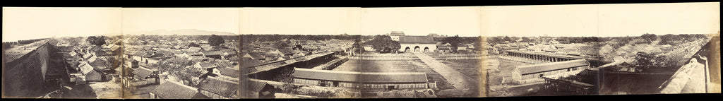 Felice Beato:Panorama of Peking, Taken from the South Gate, ,16x12