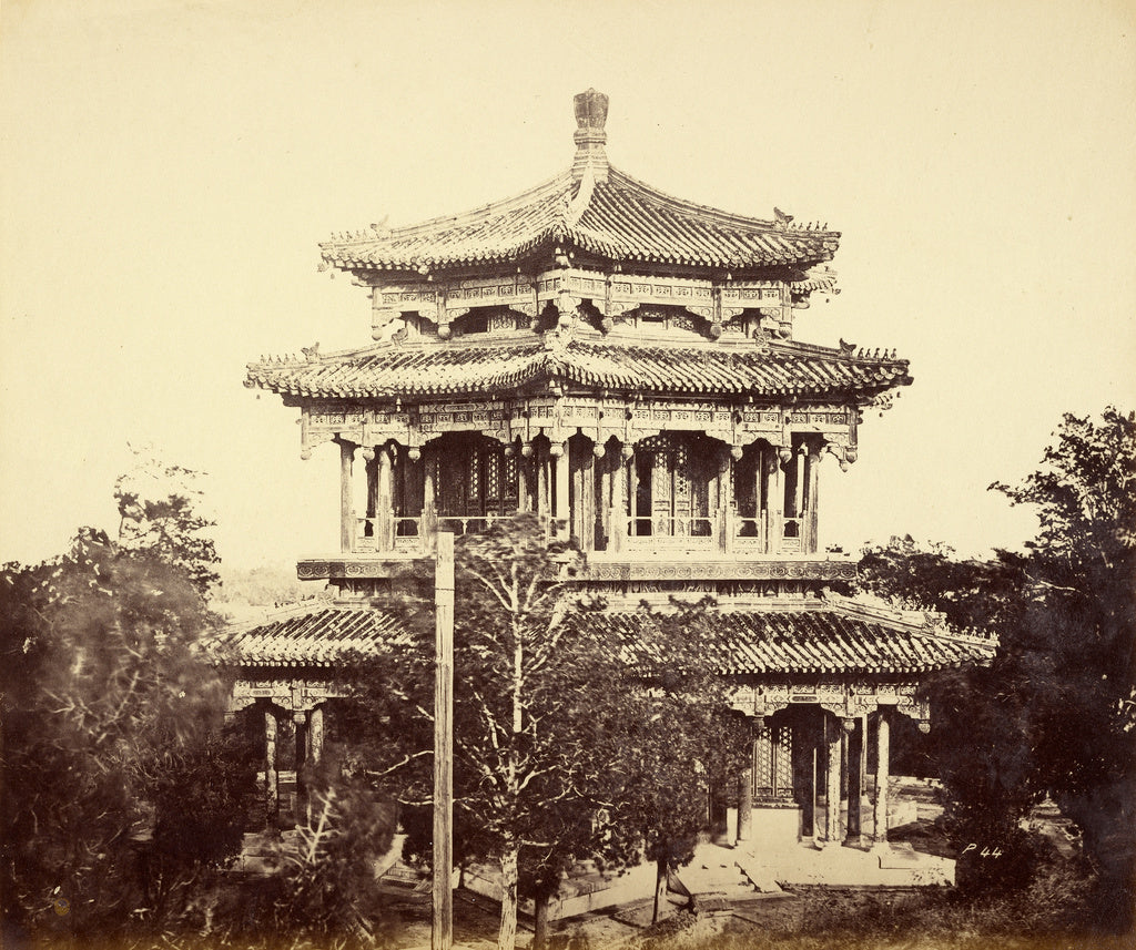 Felice Beato:[The Great Imperial Palace, Yuen-Ming-Yuen, bef,16x12