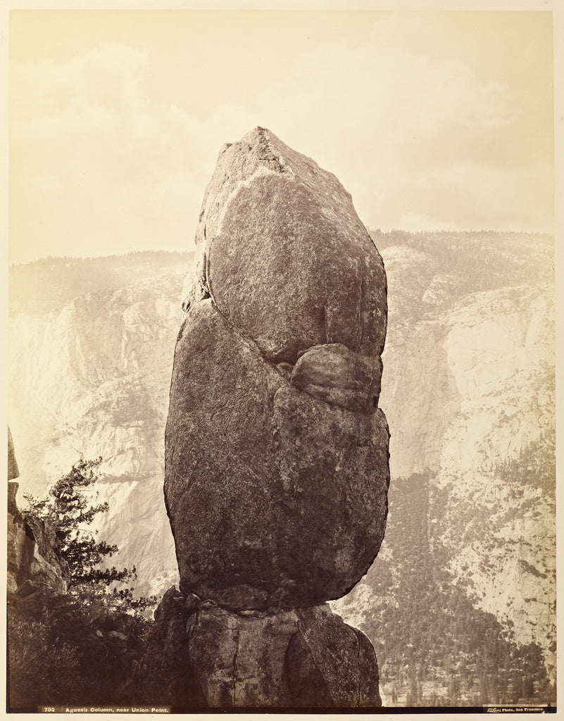 Carleton Watkins:Agassiz Column, near Union Point,16x12