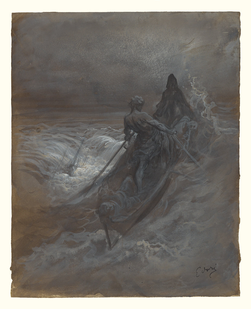 Gustave Doré:After the Shipwreck - Design for an Illustrati,16x12