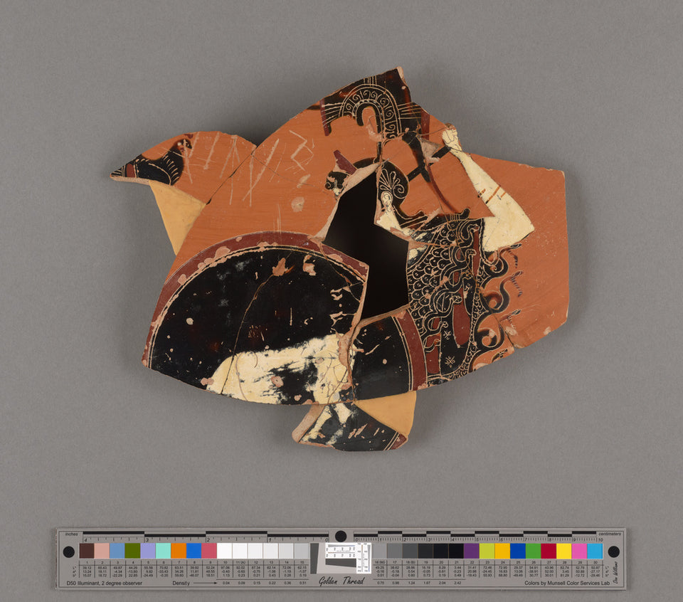"Unknown:Attic Panathenaic Amphora Fragment (part of 81.AE.20,16x12""(A3)Poster"