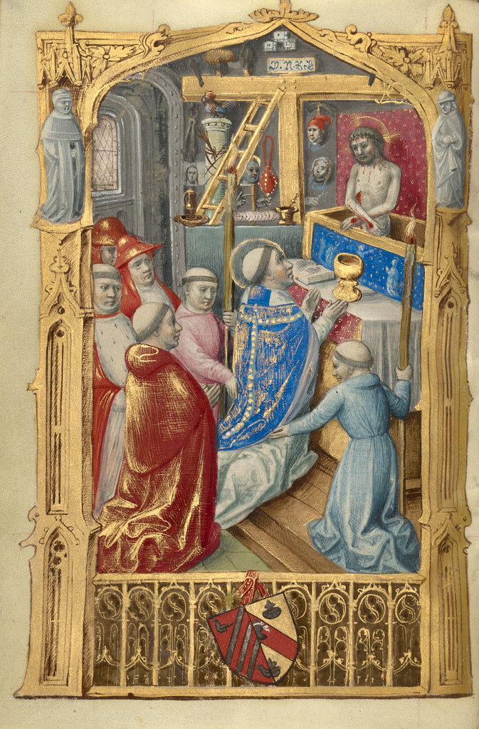 Master of Jacques de Besançon:Mass of St Gregory,16x12