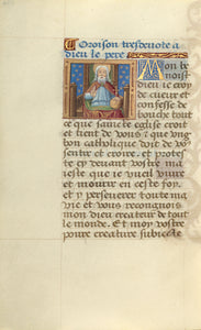 "Master of Jacques de Besançon:God the Father,16x12""(A3)Poster"