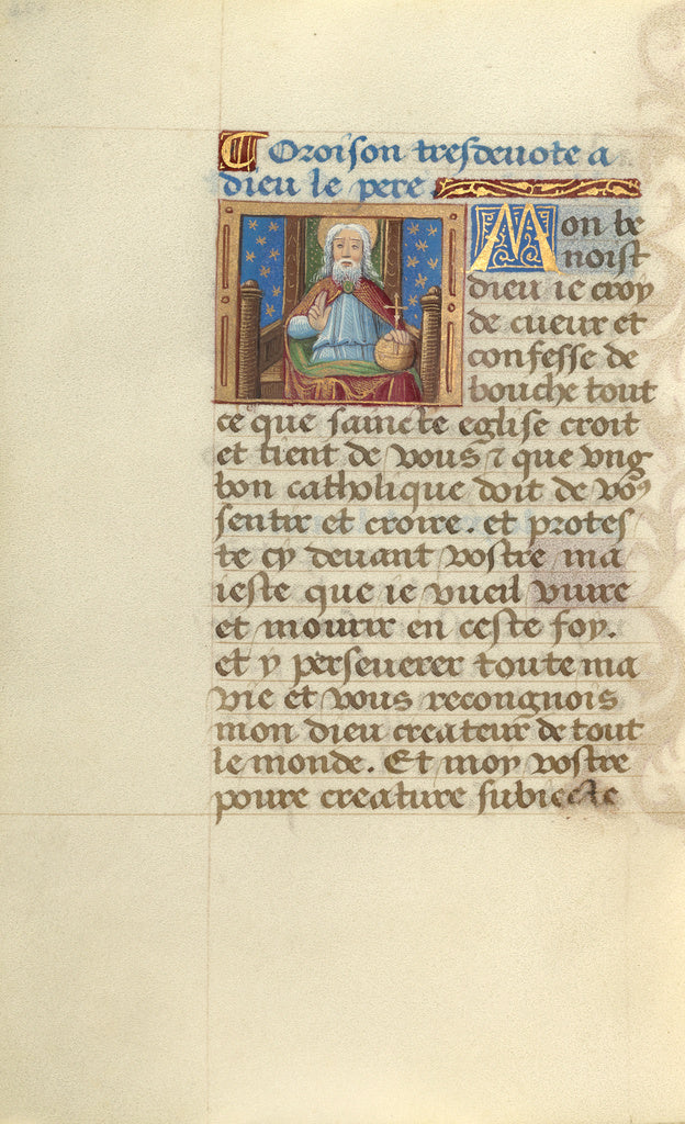 Master of Jacques de Besançon:God the Father,16x12