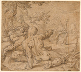 "Abraham Bloemaert:River Gods Watching Apollo Pursuing Daphne,16x12""(A3)Poster"