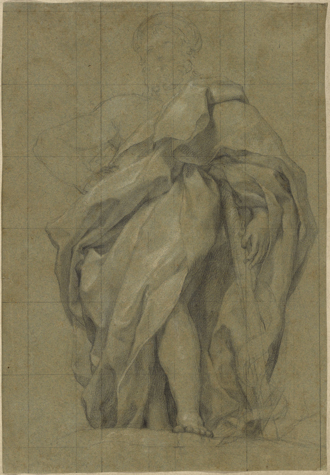 "Anton Raphael Mengs:Asclepius (recto); Study of a Male Youth,16x12""(A3)Poster"