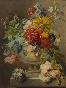 "Georgius Jacobus Johannes van Os:Bouquet of Flowers in a Vas,16x12""(A3)Poster"