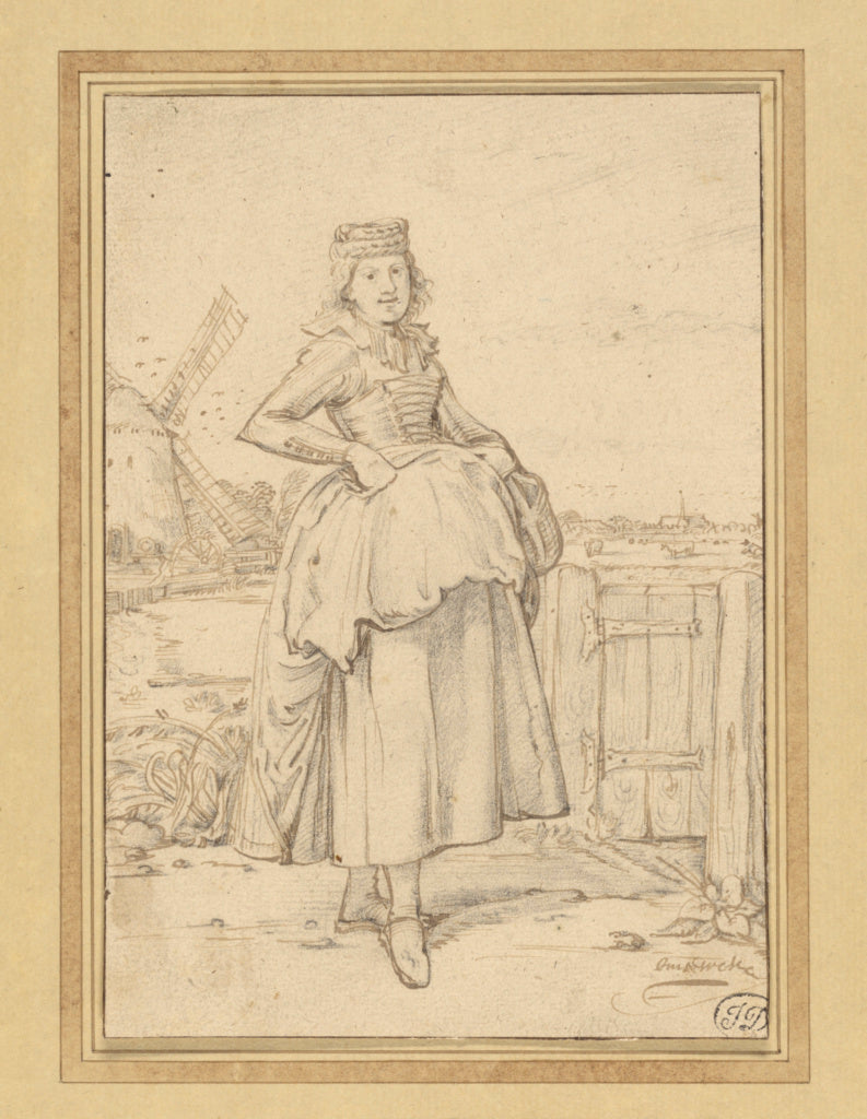 Willem Pietersz. Buytewech:A Peasant Girl from Alkmaar,16x12