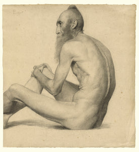 "emile-Jules Pichot:Nude Study of an Indian Man,16x12""(A3)Poster"